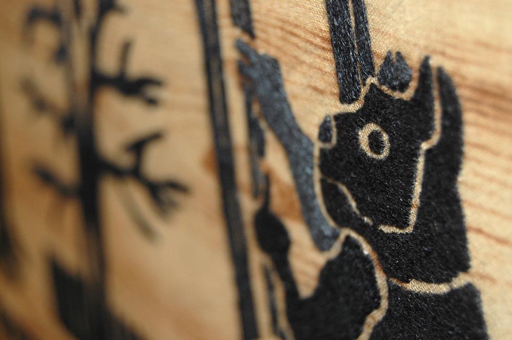 Baba Yaga Embroidered Sampler