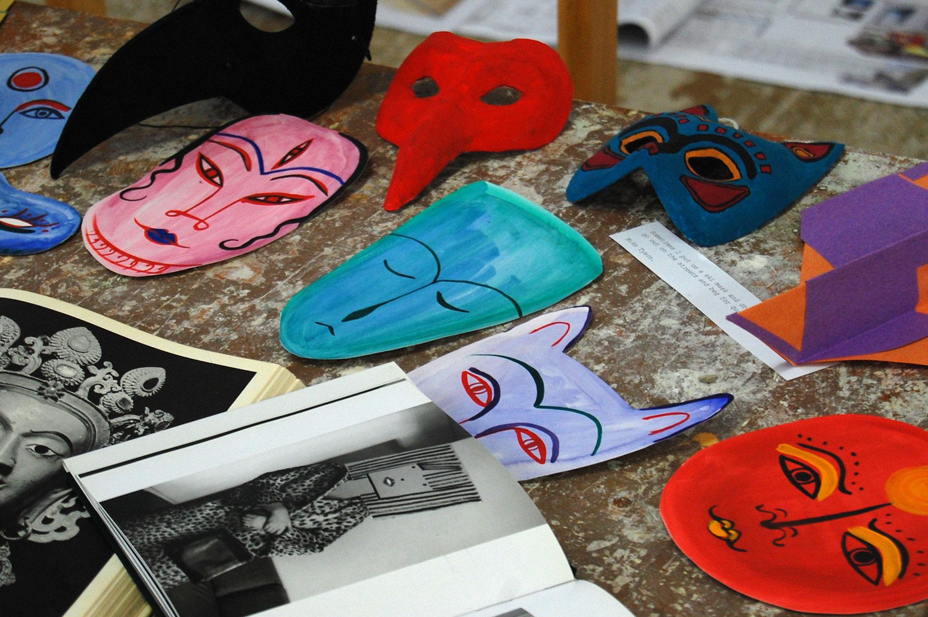 Cardiff Design Festival Mask-Making Workshop 2013