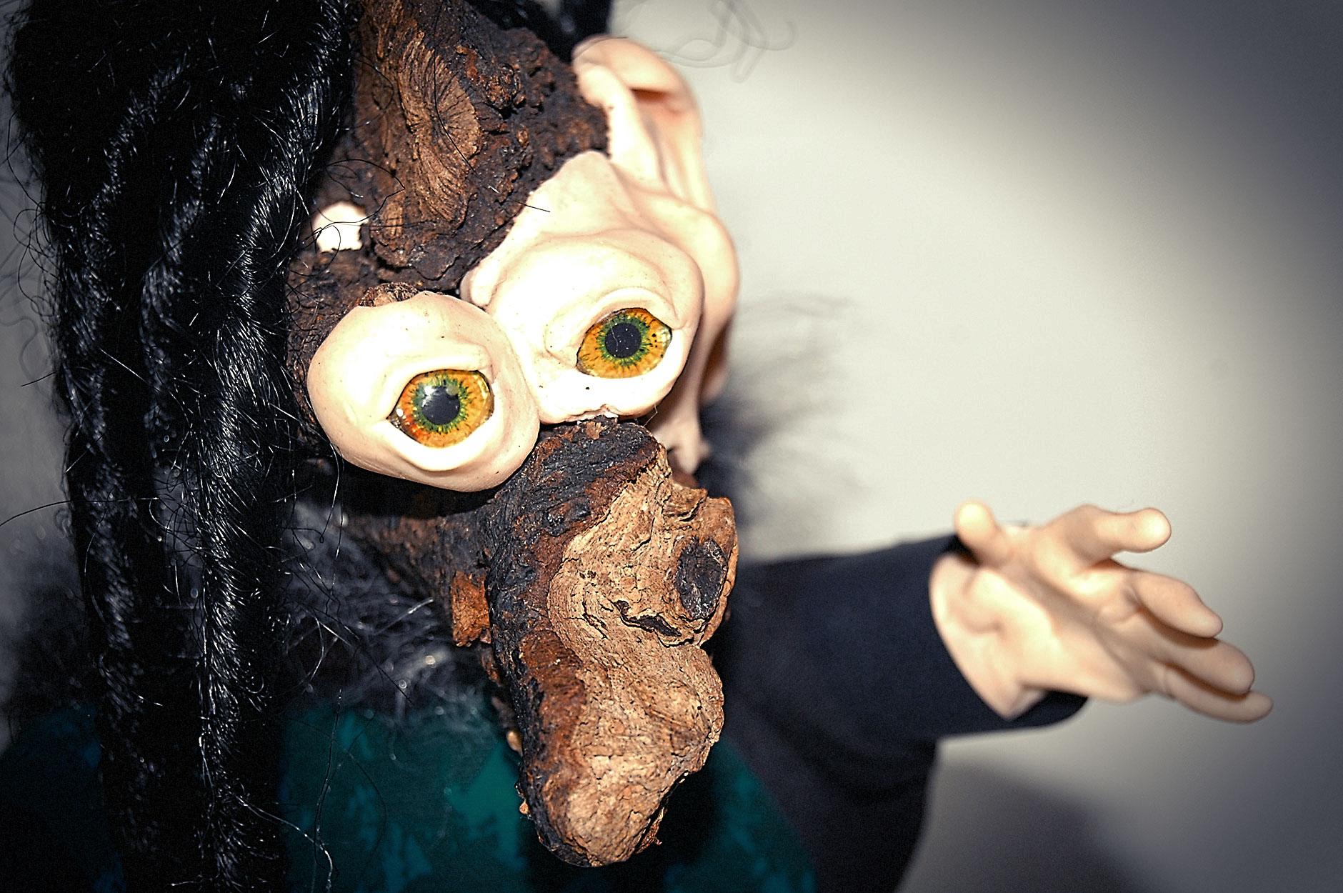 """Baba Yaga Glove Puppet Russian Puppetry  Polish Poland"