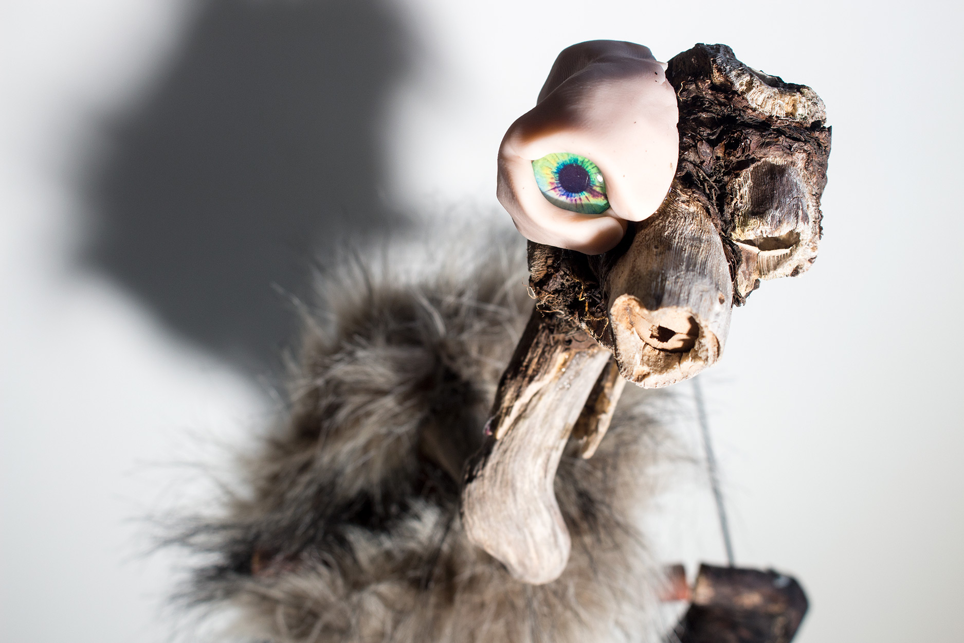 Puppet assembled from found objects