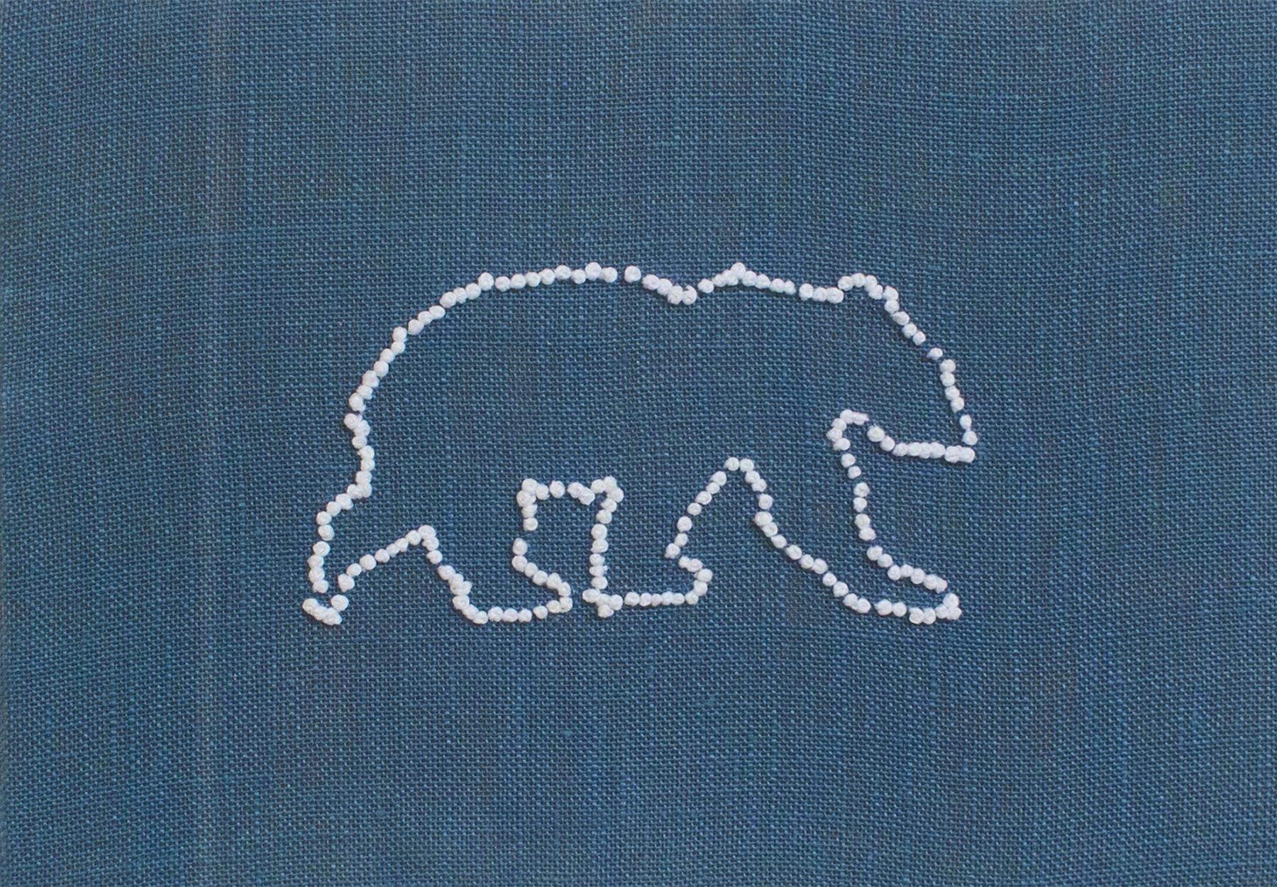 French Knot Polar Bear