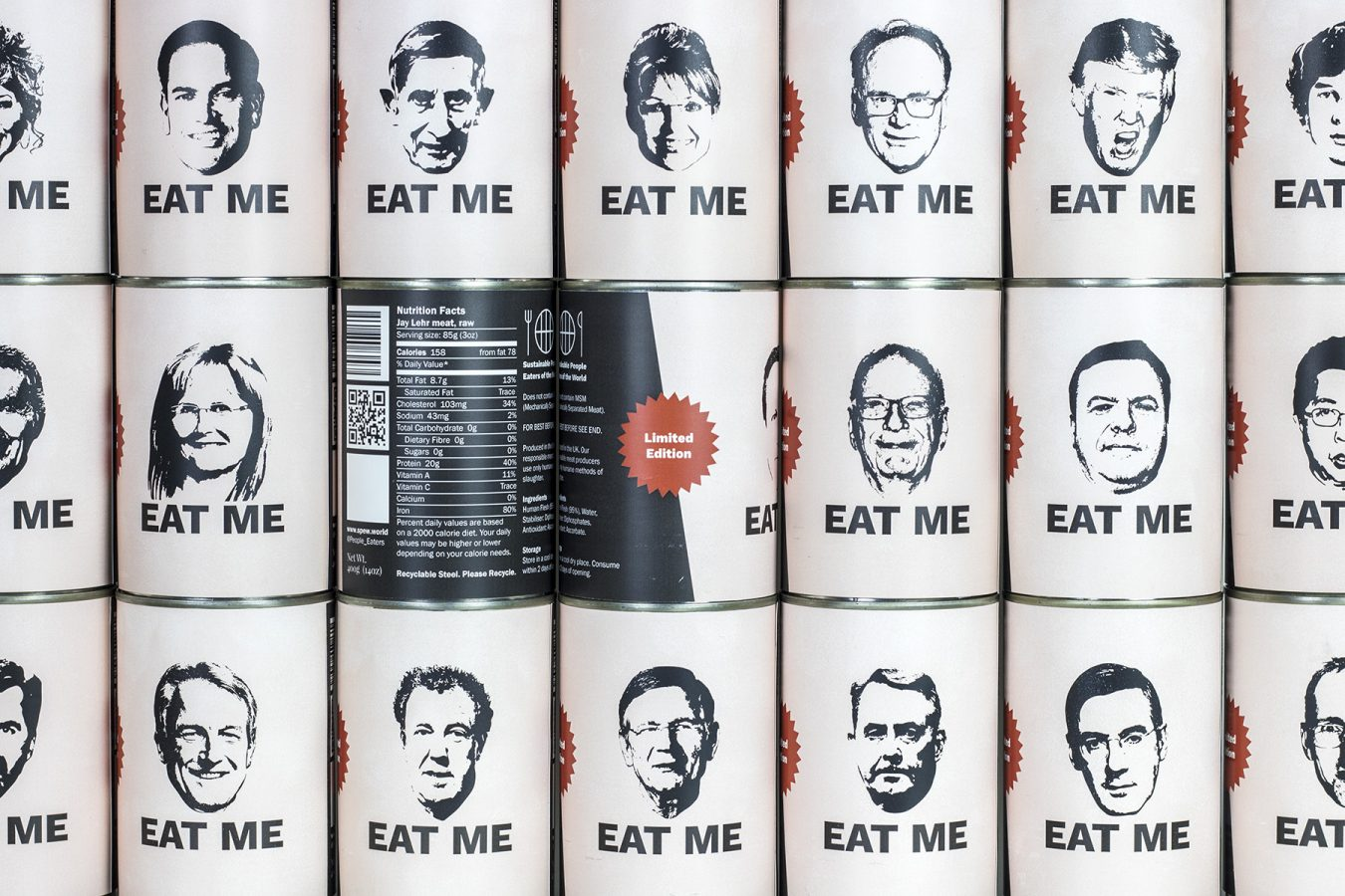 Eat Me – A Supermarket shelf full of human meat