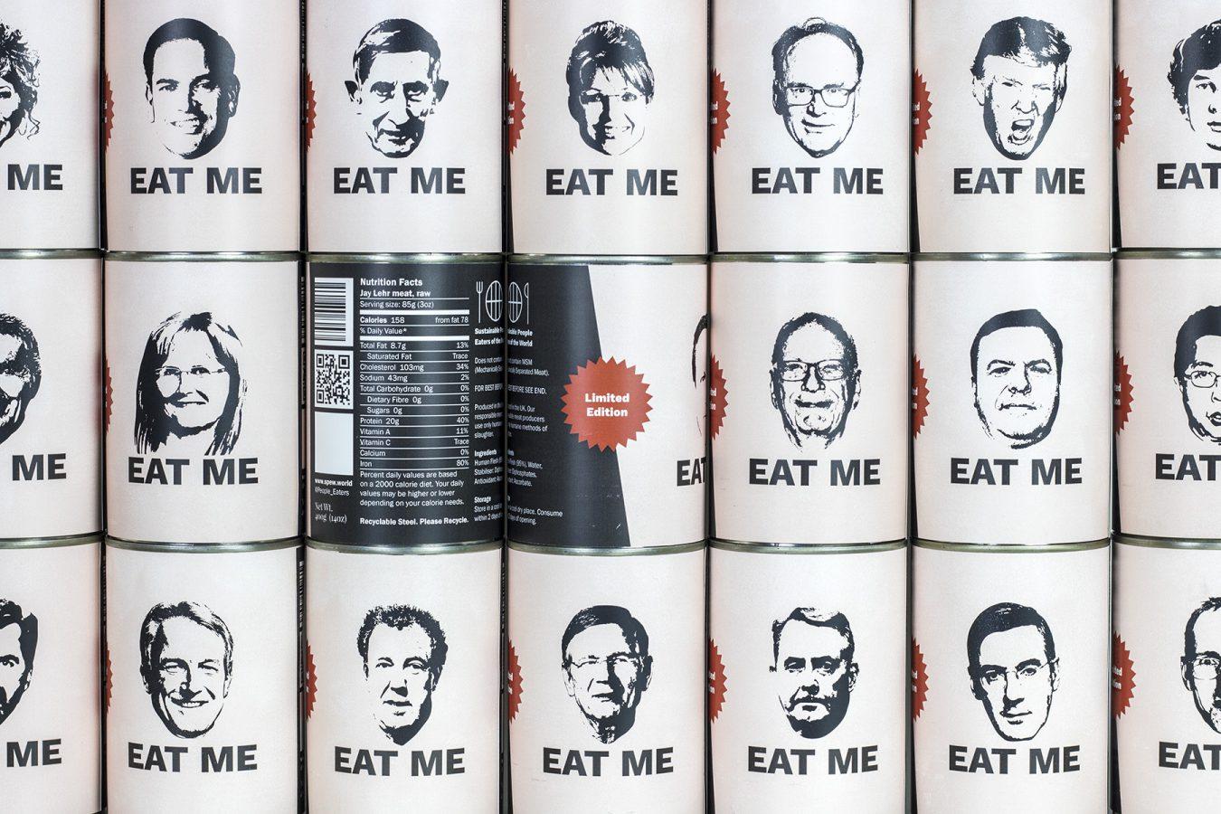 Eat Me – A Supermarket shelf full of human meat