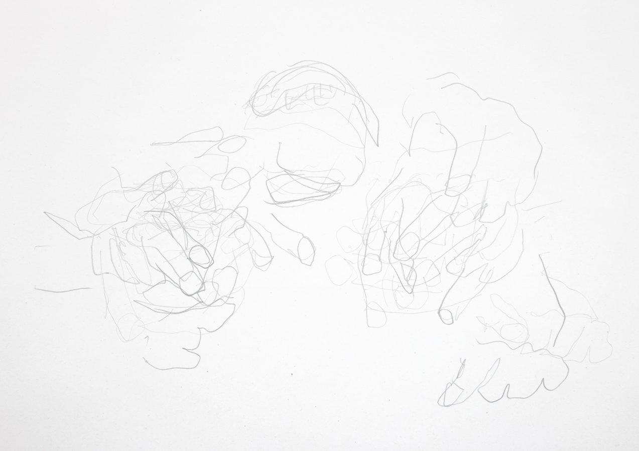 Savage Eating (Pencil Drawing)